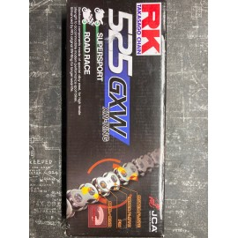 chaine RK 525 GXW XW Ring ultra renforcée  116 maillons couleur OR
